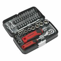 """Sealey AK8945 Socket & Bit Set 38pc 1/4""""Sq Drive"""