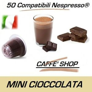 "50 Capsules Compatible Nespresso® Caffè Shop Mélange ""Mini Ciok - Mini Chocolat"""