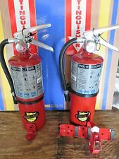 "TWO NEW 2017- ""BUCKEYE"" 5-LB ABC FIRE EXTINGUISHERS WITH WALL & VEHICLE BRACKET"