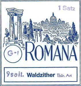 Satz Saiten ROMANA Waldzither Thüringer Art 9-saitig
