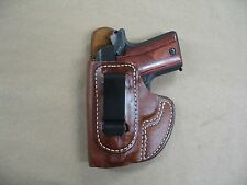 Browning 1911 22 / 380 IWB Molded Leather Concealed Carry Holster CCW TAN LH
