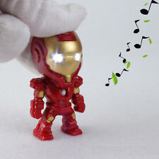 Iron man Movie LED Sound and Light Keychain Key Ring