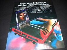 BLACK MOON RISING Tommy Lee Jones video release 1986 PROMO POSTER AD mint cond