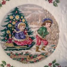 Royal Doulton Fine Bone China 1979 Christmas Plate Children Third in Series (3)