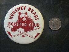 "Vintage 1960's Hershey Bears Minor League Hockey Button Pin 3"" EX+ VERY NICE"