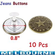 10x Denim Jeans Jeggings Jackets Mens Women Tack Buttons 20mm Repair Replacement