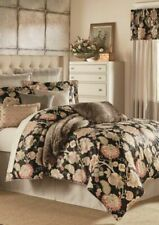 Bnib Gorgeous Biltmore Black Floral Queen Comforter 4 Piece Set Orig. $268