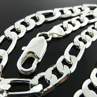 Chain Necklace Genuine Real 925 Sterling Silver S/F Solid Men's Italian Link 24""