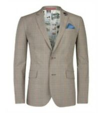 NWOT TED BAKER Brown 2 Button Sport-Blazer Brown Plaid size 3