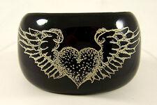 Jessica Kagan Cushman JKC Black Winged Heart Cuff NEW