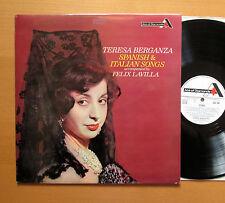 SDD Teresa Berganza ESPAÑOL & ITALIANO DE 266 canciones Decca Estéreo casi como nuevo/EX