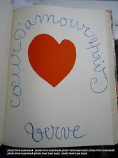 Verve Matisse Coeur d'amour Epris + Verve Fouquet + Skira + Memling 4 reliés en1