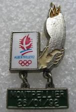 Pin's Albertville 92 Montpellier 26/01/92 * rare * #338