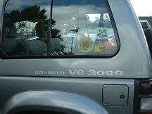 Pair of Pajero ECI-MULTI V6 3000 Decals