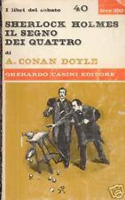 SHERLOCK HOLMES IL SEGNO DEI QUATTRO 4 CONAN DOYLE 1966 detective story original