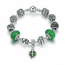 20CM Murano Glass Beads Charm Bracelet with European charms Bling Crystal Beads