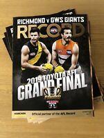 2019 AFL Grand Final Record Richmond Tigers GWS Giants - Brand New - Magazine
