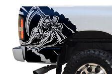 Custom Vinyl Graphics Decal Rear REAPER Wrap Kit for Dodge Ram 02-08 Matte Black