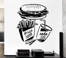 Big Wall Sticker Fast Food Fries Soda Burger Restaurant Pop Art (z2599)