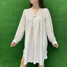 Vintage Christian Dior Size Med Lace Pastel Pink Dress  Lingerie Nightgown
