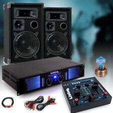 2400 Watt PA Party Kompakt Musik Anlage Verstärker Boxen USB MP3 Big Light