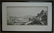 Vale of Ffestiniog, Wales. Etching by listed artist Gertrude Martin Hodges 1926