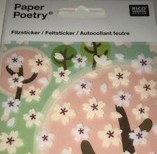 Paper Poetry Flower Sticker Set - 30 Stickers 10x19cm