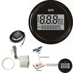 52mm Car Boat Truck Digital GPS Speedometer 0-999 Knot MPH Kmh 7 Color Backlight
