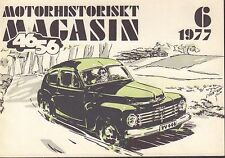 Motorhistoriskt Magasin Swedish Car Magazine 6 1977 Volvo 040317nonDBE
