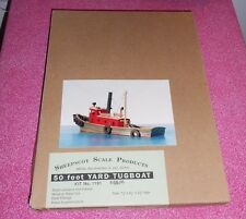 SHEEPSCOT SCALE PRODUCTS 50' YARD TUGBOAT HO GAUGE CRAFT WOOD KIT #1191 NIB