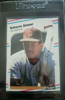 1988 FLEER UPDATE #U-122 ROBERTO ALOMAR ROOKIE CARD RC SAN DIEGO PADRES HOF MINT
