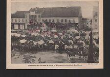 GOLDAP - Gołdap, 1915 Bildnis Fotografie Fuhrkolonnen auf dem Markt in Goldap