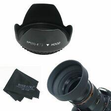49MM Flower Hood & 3-in-1 Rubber Lens Hood +Cloth for Sony Alpha NEX 18-55mm