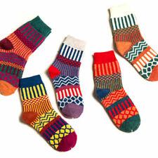 Mysocks para hombres y mujeres Paquete de 5 pares de calcetines de color liso peinados de algod/ón p/úrpura
