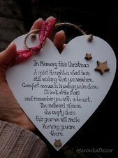In memoria di questo Natale-Memoriale Ornamento di Natale-cuore fatto a mano - 6 pollici