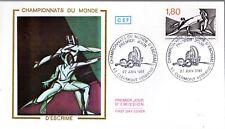 2147+ FDC  ENVELOPPE 1er JOUR  CEF  CHAMPIONNATS  DU  MONDE  D' ESCRIME...