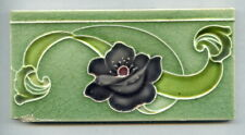 "Relief moulded 6""x3"" Art Nouveau border tile by Henry Richards, c1920"