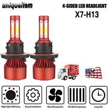 2 x 4 Sides H13 9008 2000W 300000LM LED Headlight Hi-Low Beam Bulbs White 6500K