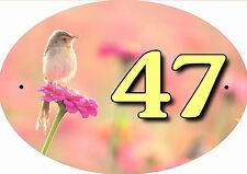 plaque de maison - boite aux lettres oiseau inscription au choix réf 62