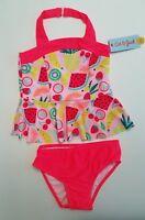 Girls Halter Top Tankini Set - Fruit Watermelon - Cat & Jack - Pink 6 - Swimwear