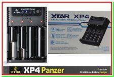 Caricabatterie XTAR XP4 Panzer x Li-ion Ni-MH Ni-CD TC CC CV +Funzione Powerbank