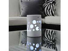 Solar Tischlampe wei�Ÿe Keramik LED Dämmerungssensor Gartenlampe Terrasse Lampe