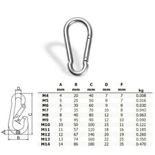 Carabiner Equipment Caving Climbing Silver Stainless steel Spring Hanging