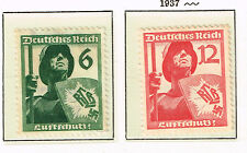 Germany Ww2 Third Reich Soldiers stamps 1937 Mlh