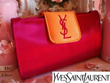100% AUTHENTIC RARE Edition YSL COUTURE SILK SATIN Clutch Evening BAG & MIRROR