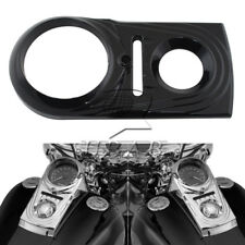 Dash Panel Insert Cover Die Cast Sculpted For Harely Dyna Softails FLSTN Black