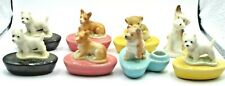 More details for eight dog and lion candle holders including 7 wade whimsies - westie corgi etc
