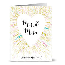 24 Note Cards - Mr. & Mrs. Heart - Gray Envs