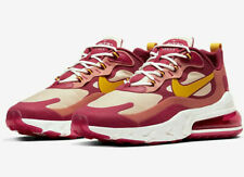 Nike Air Max 270 React Running Shoes Noble Red Team Gold AO4971-601 Men's NEW
