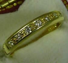 PRETTY 18CT GOLD ENGLISH .21CT DIAMOND ETERNITY RING SIZE K  2.6 GRAMS 1991